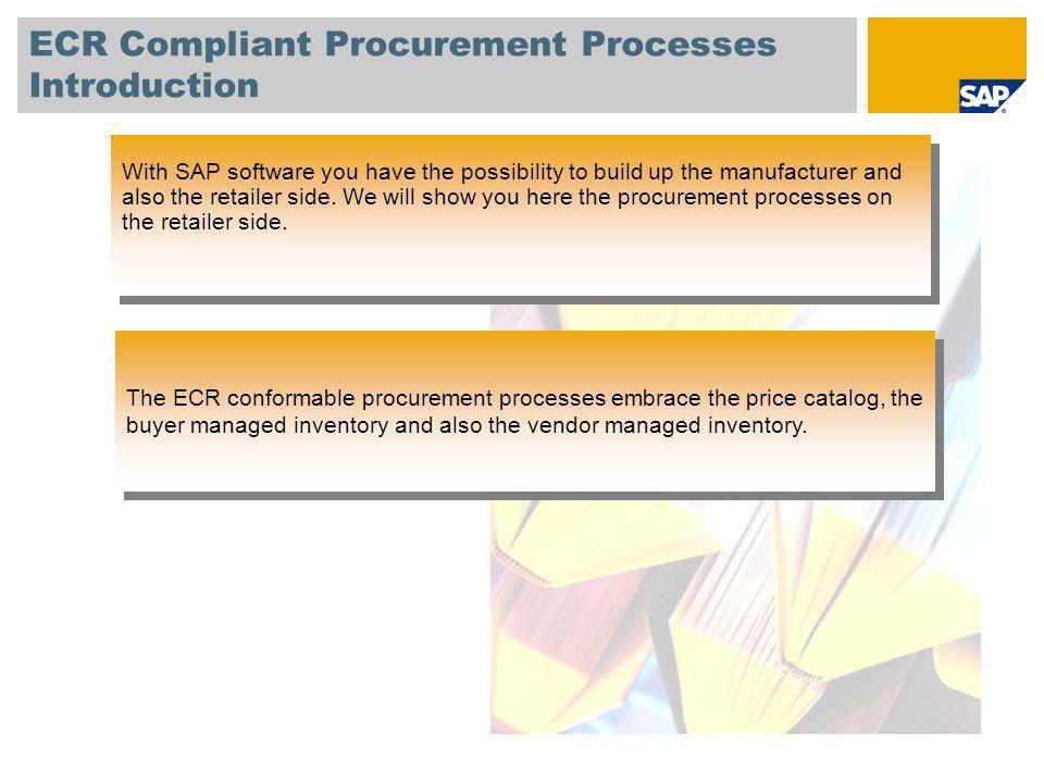 ECR Compliant Procurement Processes Introduction