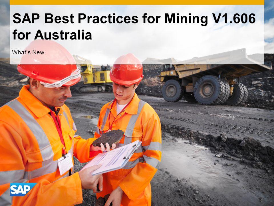 SAP Best Practices for Mining V1.606 for Australia