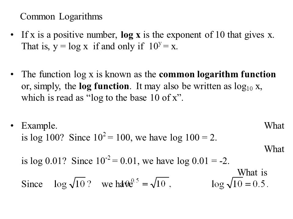 how to find log x
