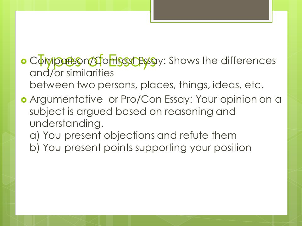 the essay ppt video online  5 types of essays