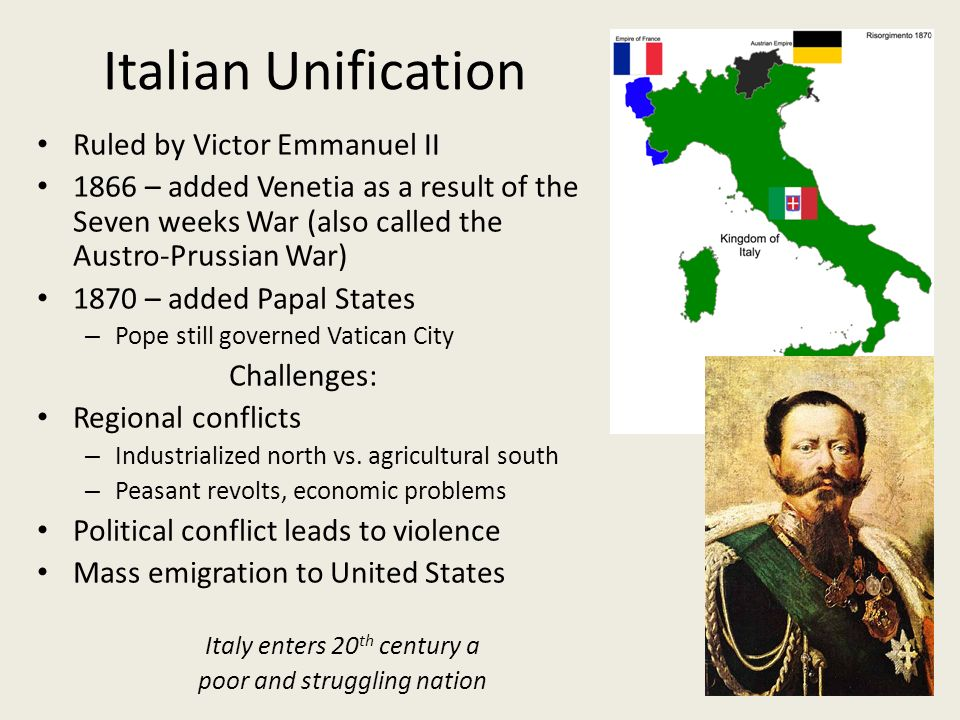 unification of italy dbq Start studying liberalism and nationalism: italy and germany 1848-71 learn vocabulary, terms, and more with flashcards, games, and other study tools.