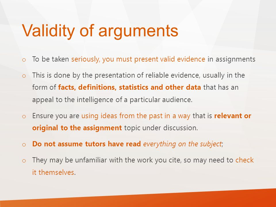 harvard referencing let s get started ppt validity of arguments to be taken seriously you must present valid evidence in assignments