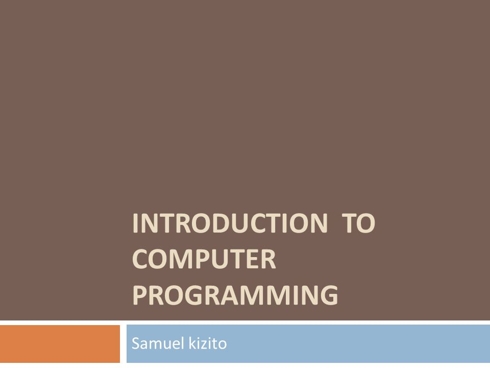 introduction to computer and programming pdf