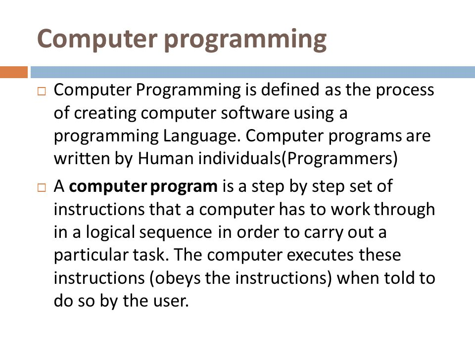 introduction to computer programming pdf
