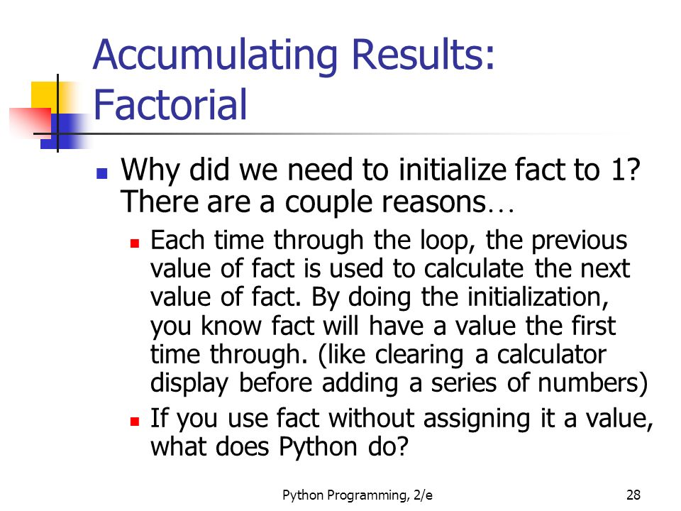 how to find factorial without a calculator