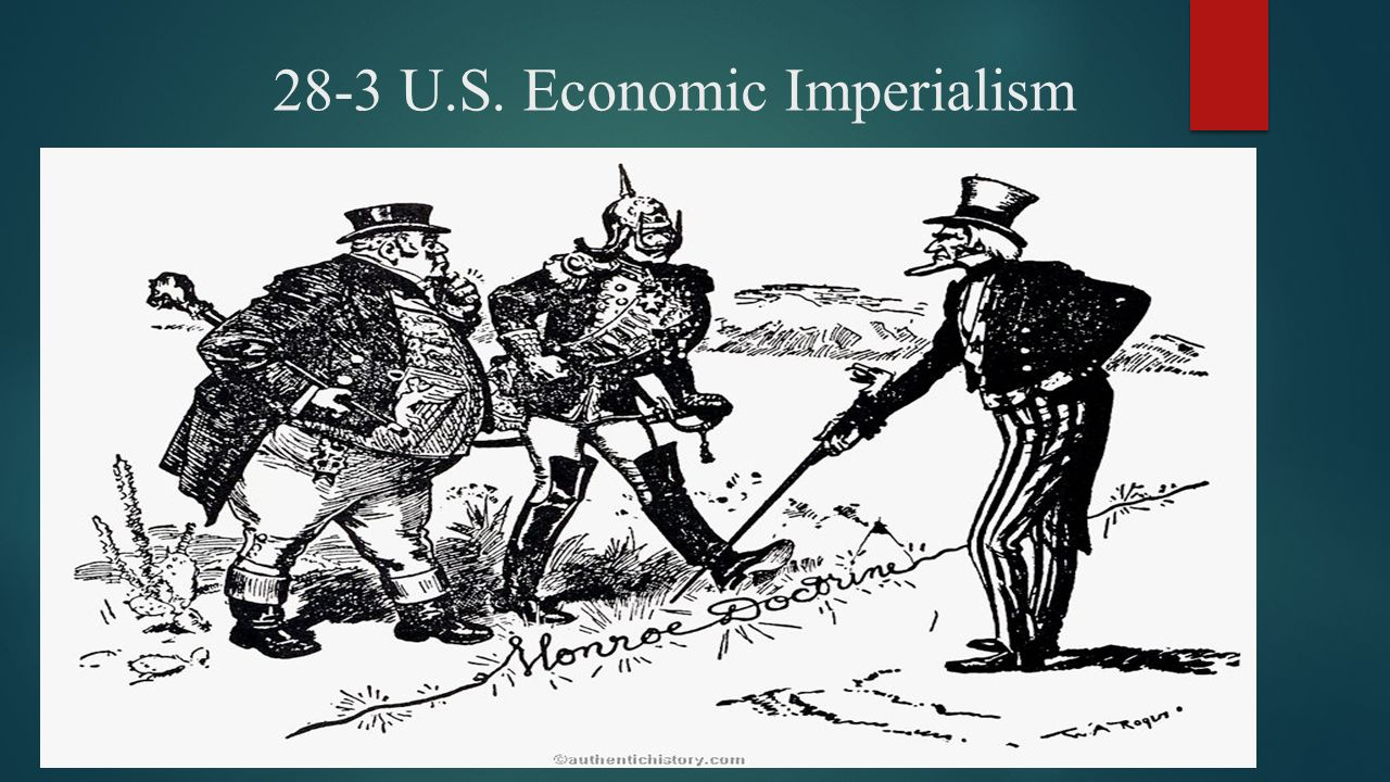 imperialism in the u s One of the best examples of modern imperialism is the united states the united states uses economic, cultural and militaristic influences for wealth and power and does so in order to promote the interests of large cooperation and banks for example, some banks will give unreasonable loans to other countries claiming to promote economic growth and development, but these 3rd world countries end.