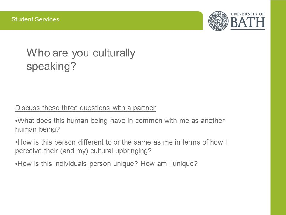 Who are you culturally speaking