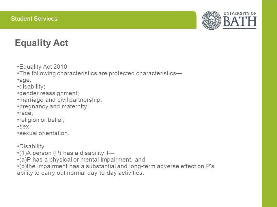 Equality Act Equality Act 2010