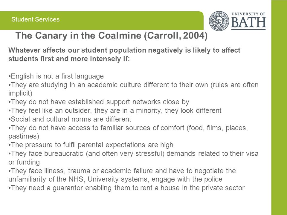 The Canary in the Coalmine (Carroll, 2004)