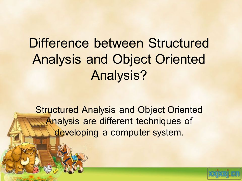 Difference between Structured Analysis and Object Oriented Analysis