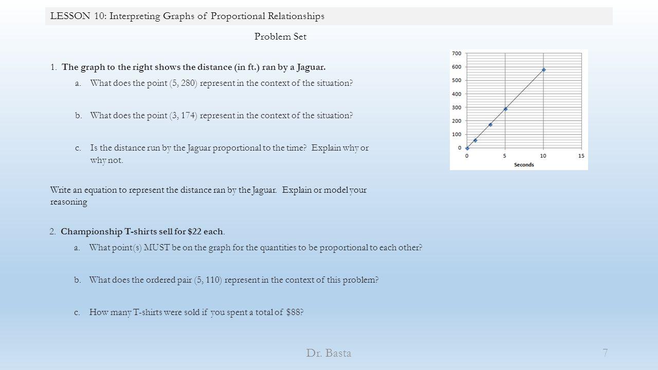 Worksheets Proportional Relationships Worksheets lesson 10 interpreting graphs of proportional relationships ppt relationships