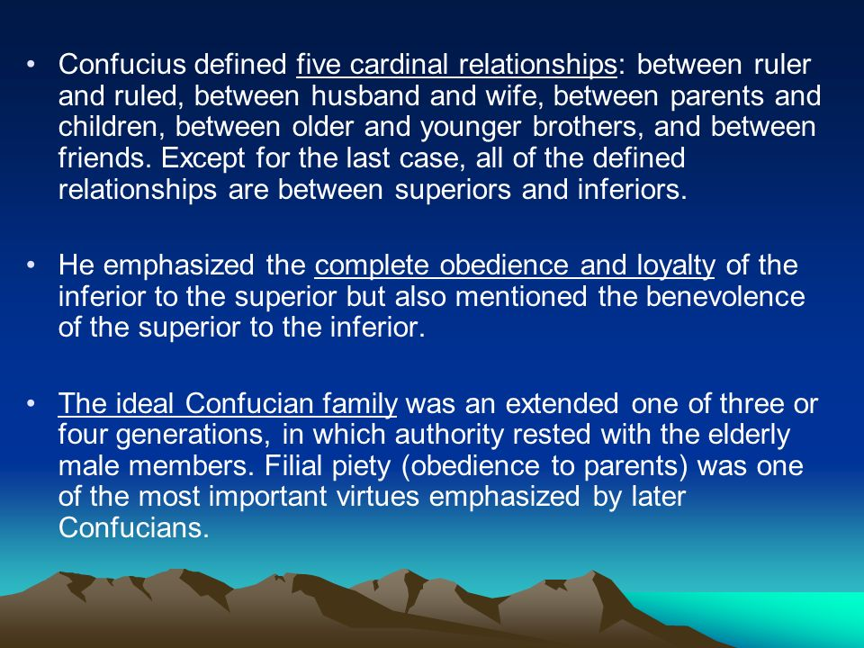 husband and wife relationship in confucianism which is the most important
