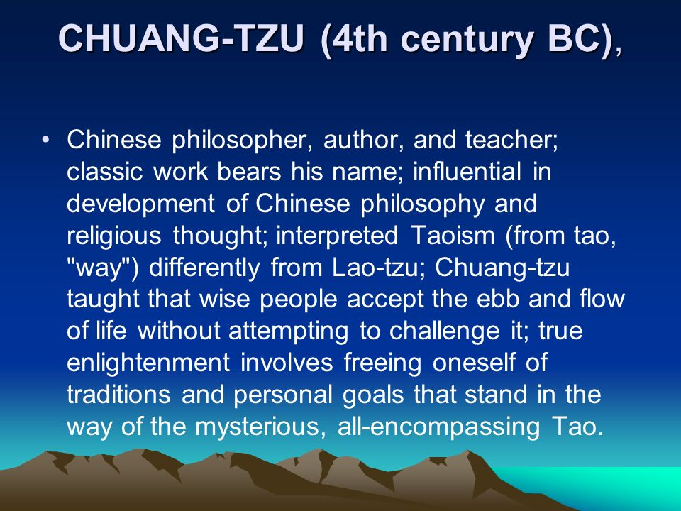 describing the philosophies of chuang tzu and taoism