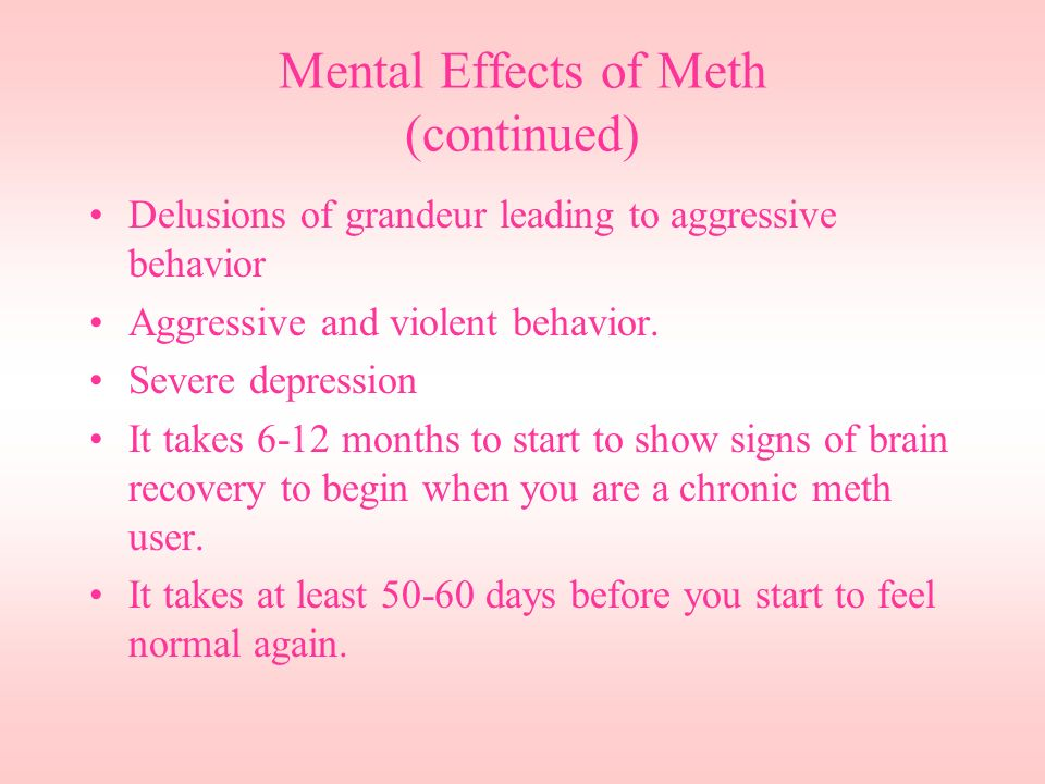 how to help a meth user