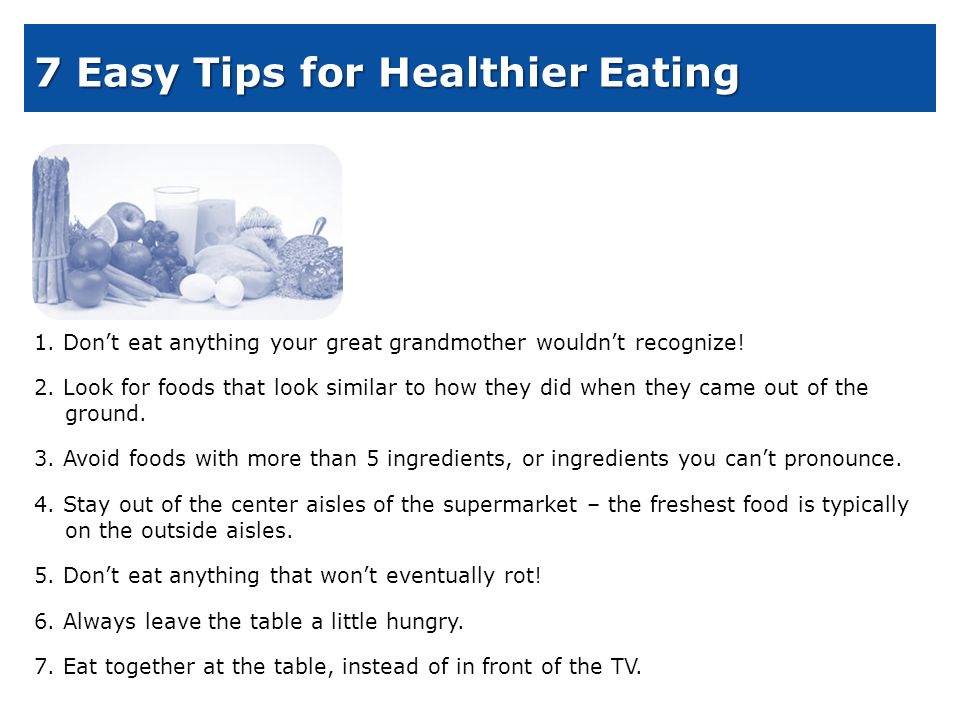 Webmd Food Recipes News   Rules For Eating