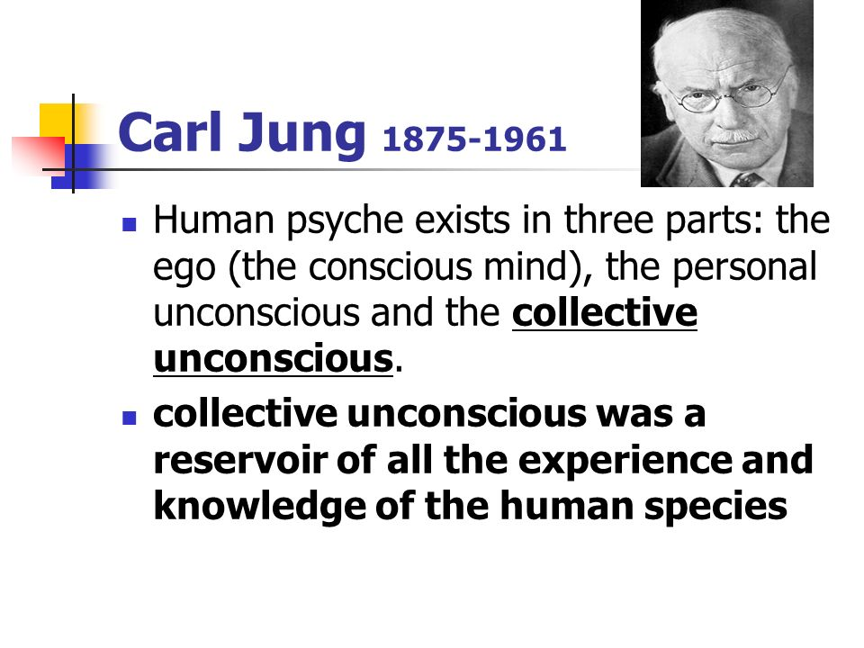 """jungs unconscious mind essay He viewed the unconscious as the """"mystical and spiritual"""" (jung 2007, 36) aspect of the individual's personality and argued that the personality of the individual is composed of two competing forces and the individual's mind continuously strives to create a sense of balance in the part of the individual (jung 2007."""