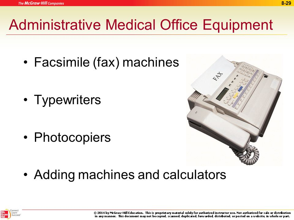 Administrative Medical Office Equipment
