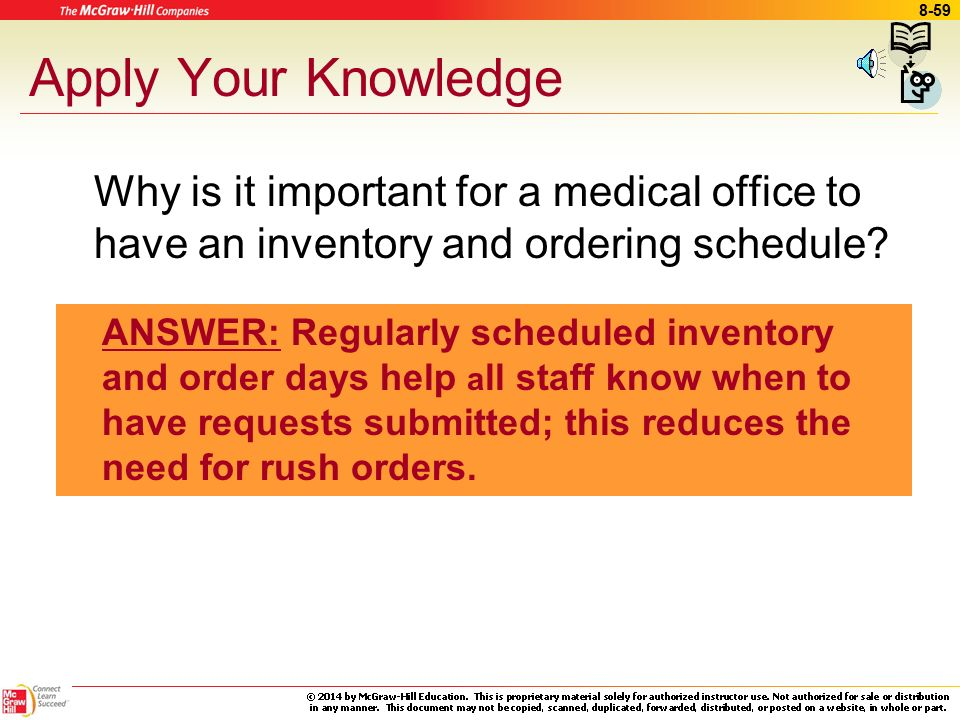 Ly Your Knowledge Why Is It Important For A Medical Office To Have An Inventory And