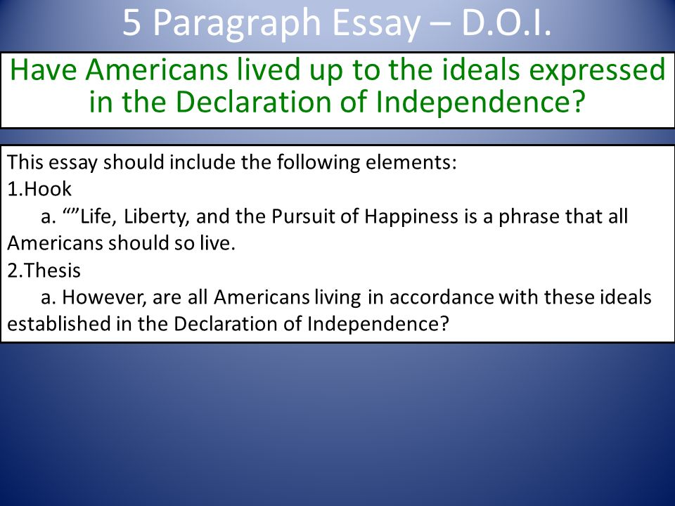 Fallacious Arguments In the Declaration of Independence