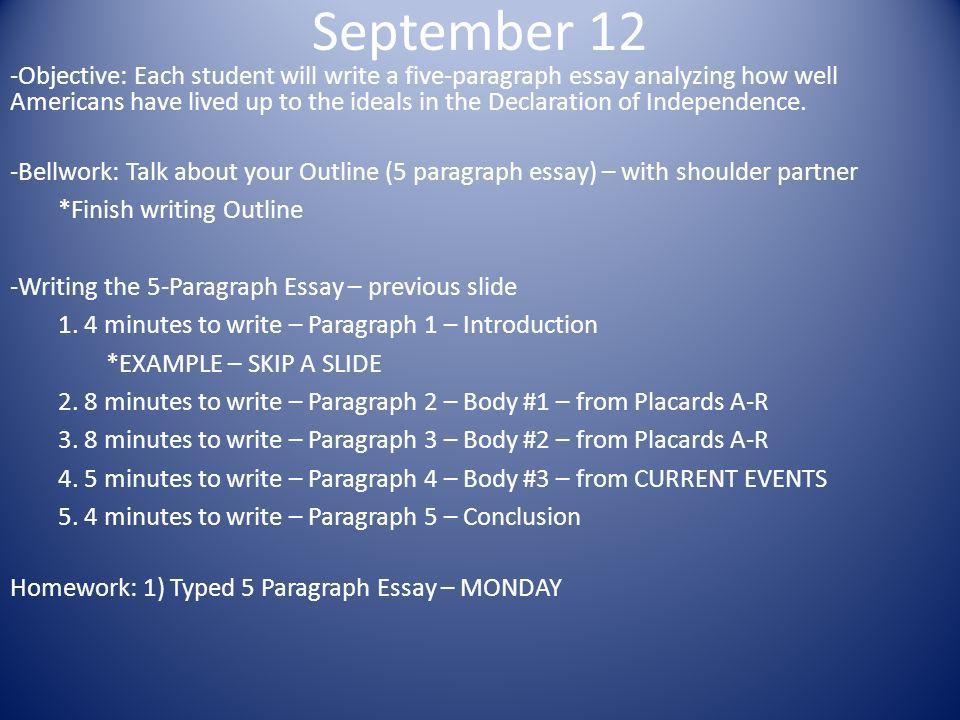 how to write 5 paragraph essay