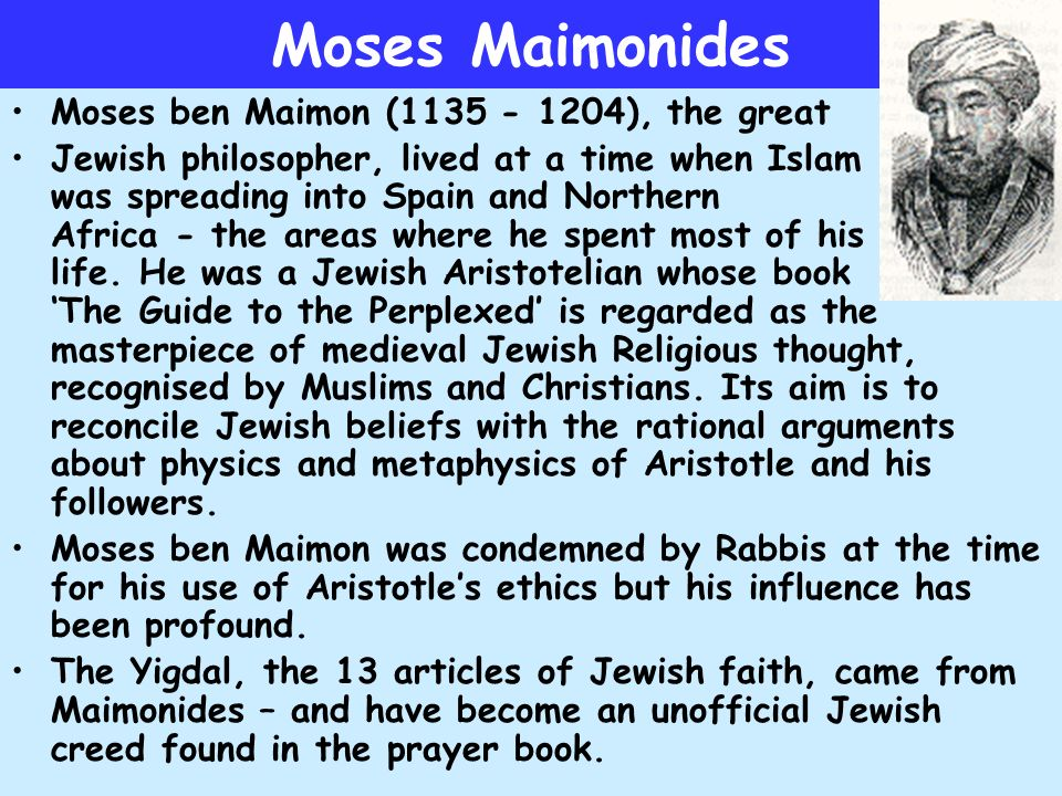 moses maimonides impact on judaism essay Moses essay - download as word doc (doc), pdf file (pdf), text file (txt) or read online f.