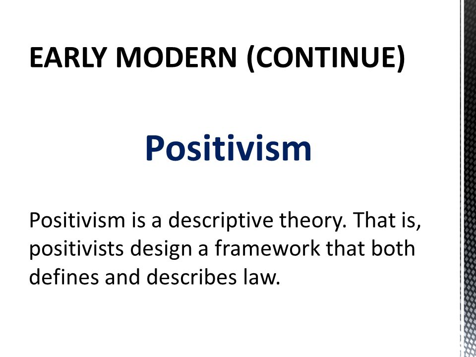 legal positivist social thesis Jurisprudence positivists  all in ascribing this legal positivism thesis  thought and analyzed the legal and social problems of the society as well as.