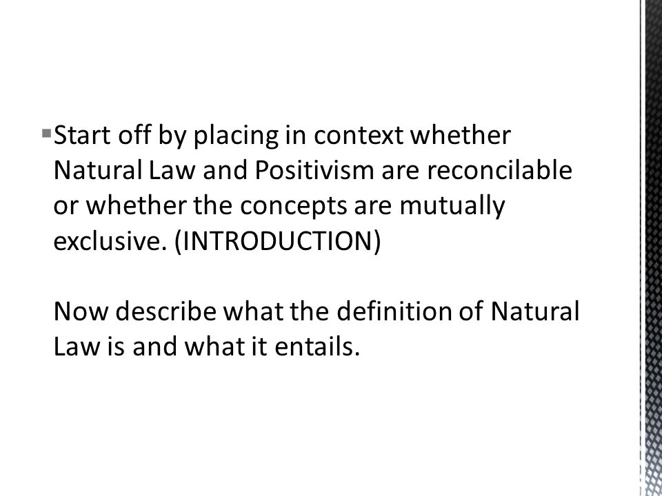 natural law and legal positivism essay Natural essay and positivism law legal st thomas aquinasthe adherents of natural law theory nlt accept as a truth that there is a direct relationship between god.