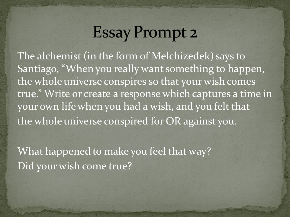The alchemist essays