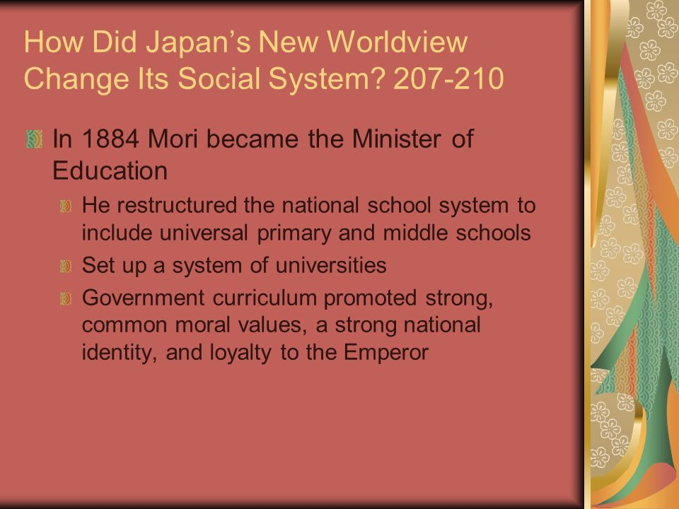 changing moral value system Built to study the moral value educational system that jordanian youth  so if  morality imposes a duty to work for changes in society, the role of.