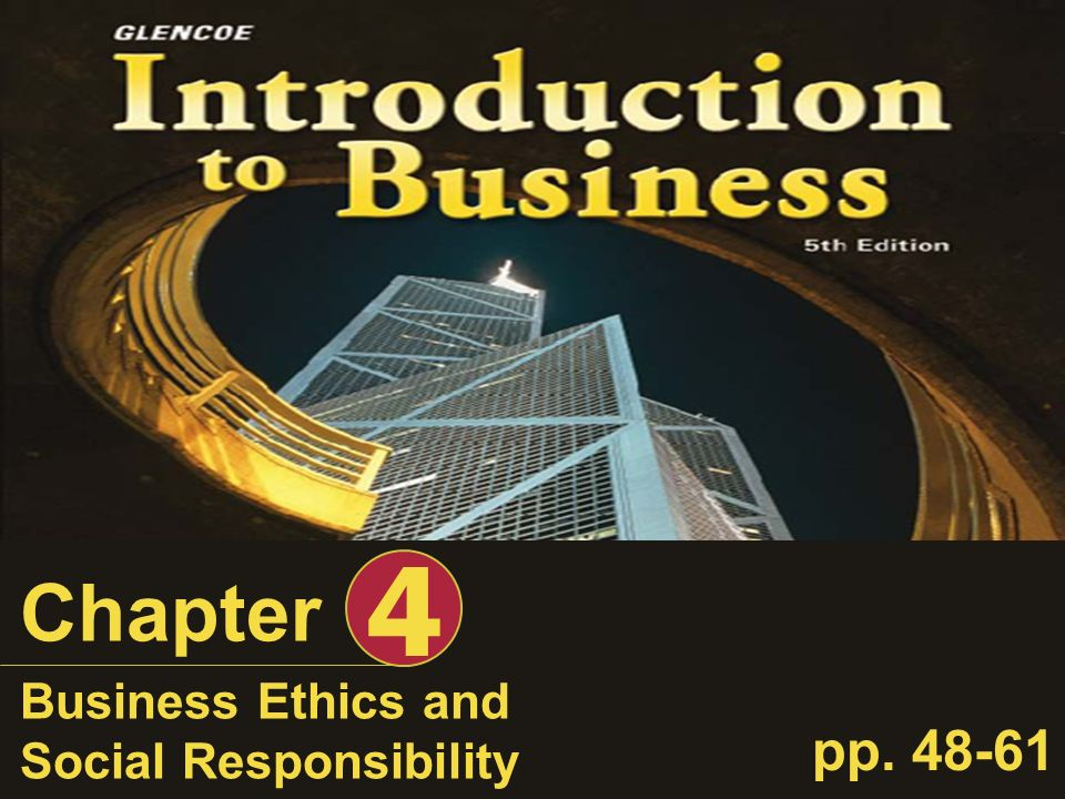 4 Chapter Business Ethics and Social Responsibility pp