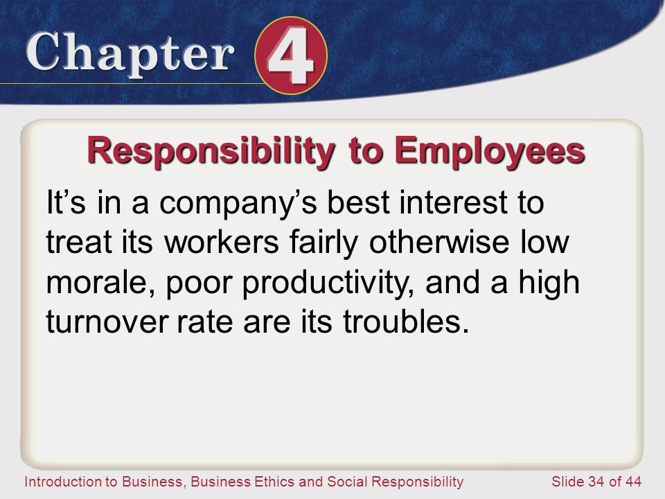 Responsibility to Employees