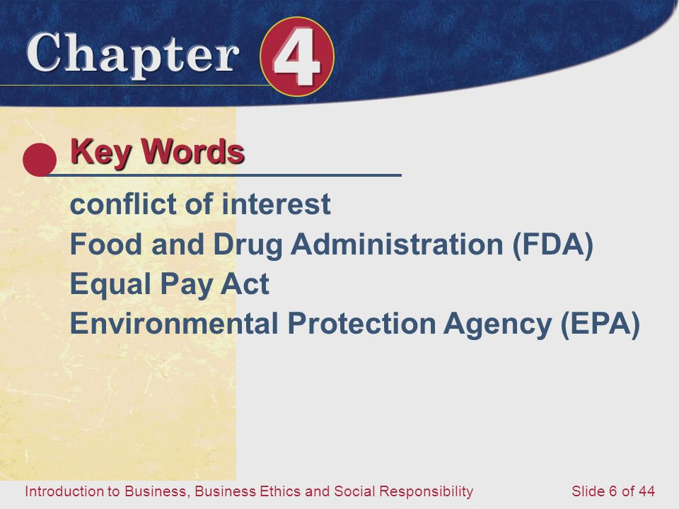 Key Words conflict of interest Food and Drug Administration (FDA)