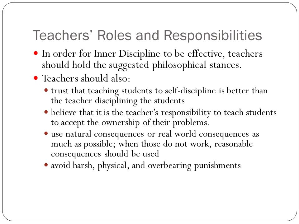 teacher roles and responsibilities essay Free essay: although i am not presently employed as a teacher, after many years as a student i have come to appreciate that it is the teachers who supported.