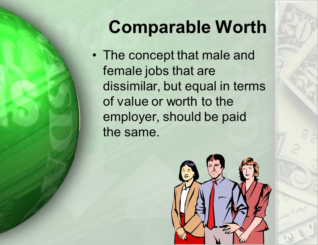 comparable worth Comparable worth new directions for research comparable worth equal pay for jobs of equal value has been called the civil rights issue of the s this volume consists of a committee report that sets forth an agenda of much needed research on t.