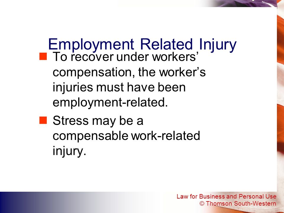 Employment Related Injury
