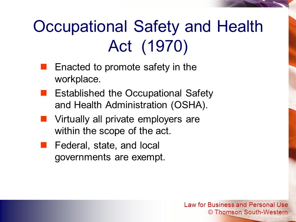 Occupational Safety and Health Act (1970)
