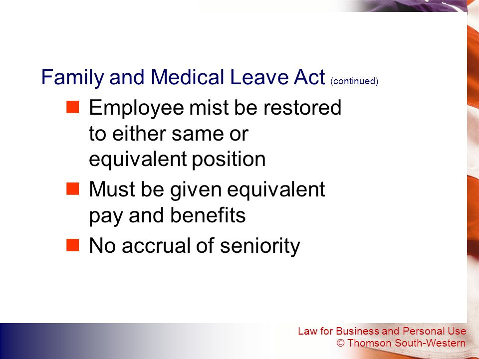 Family and Medical Leave Act (continued)