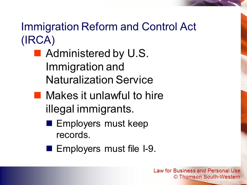 Immigration Reform and Control Act (IRCA)