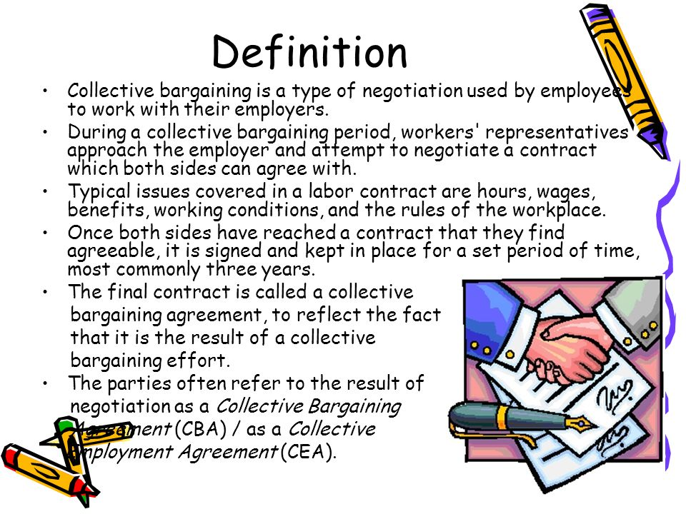 employment relationship and collective bargaining
