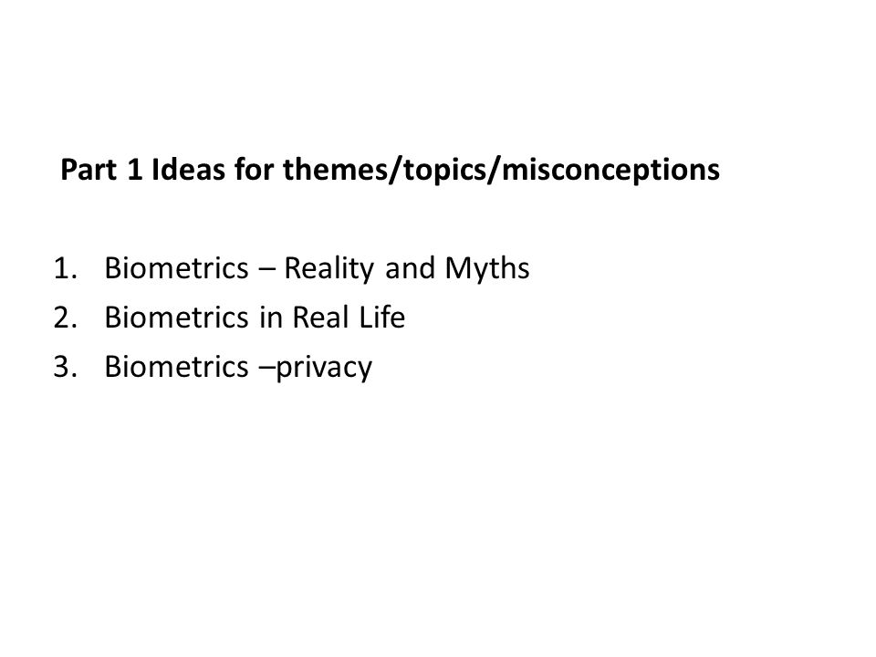 part ideas for themes topics misconceptions ppt video online  part 1 ideas for themes topics misconceptions