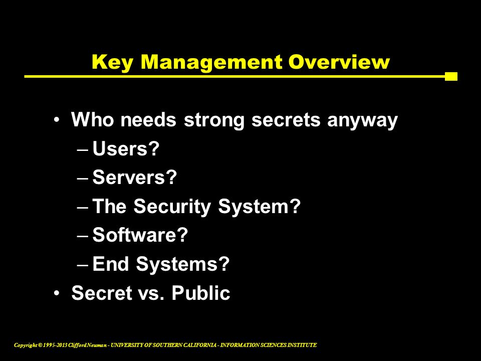 Key Management Overview