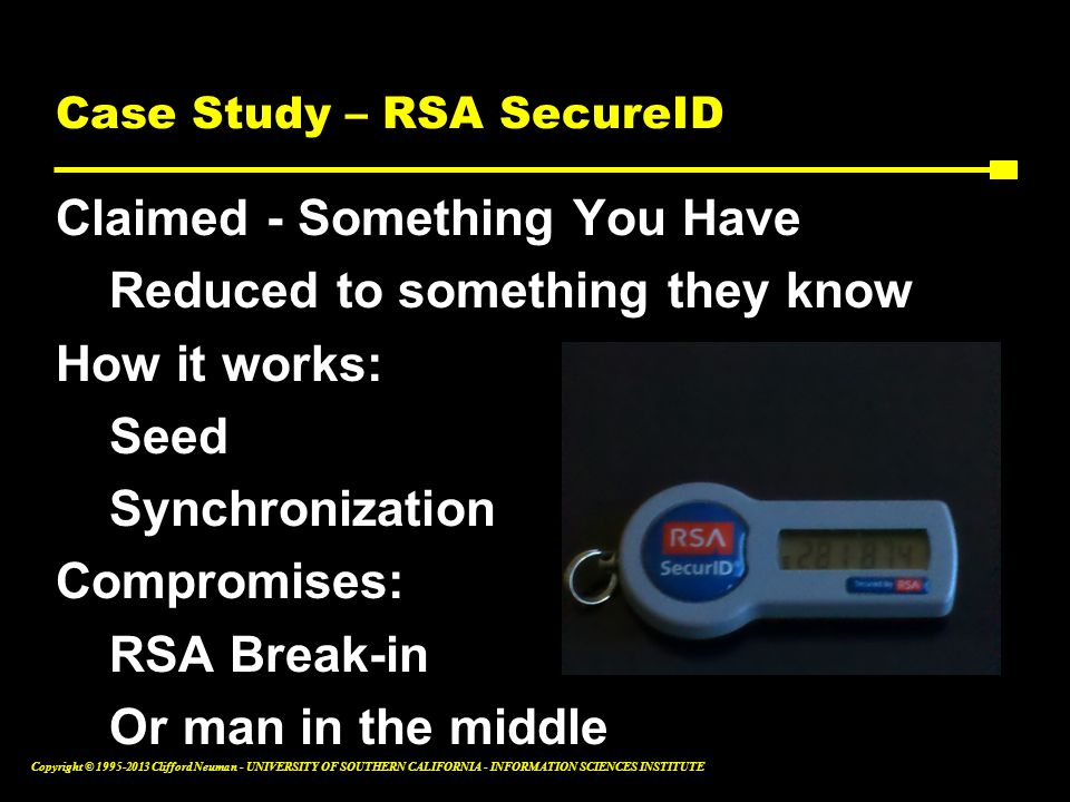 Case Study – RSA SecureID