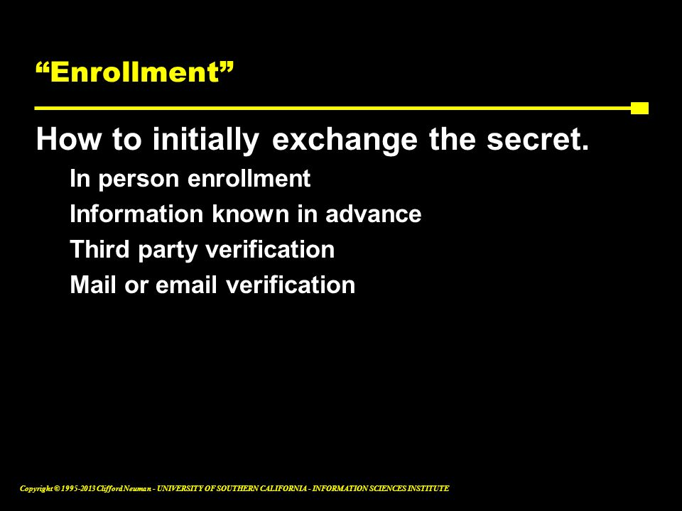How to initially exchange the secret.