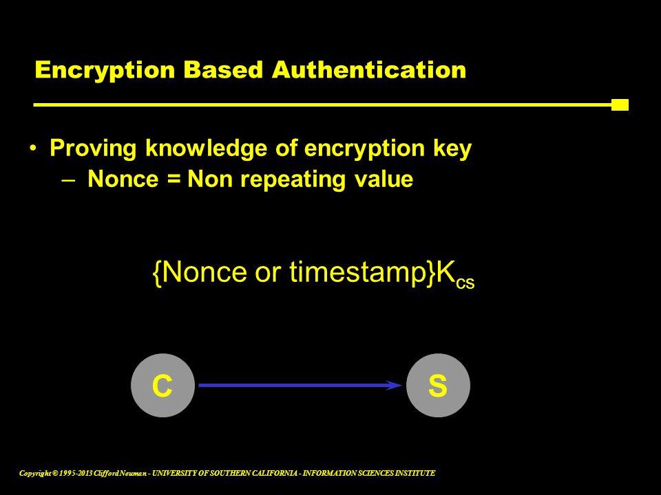 Encryption Based Authentication