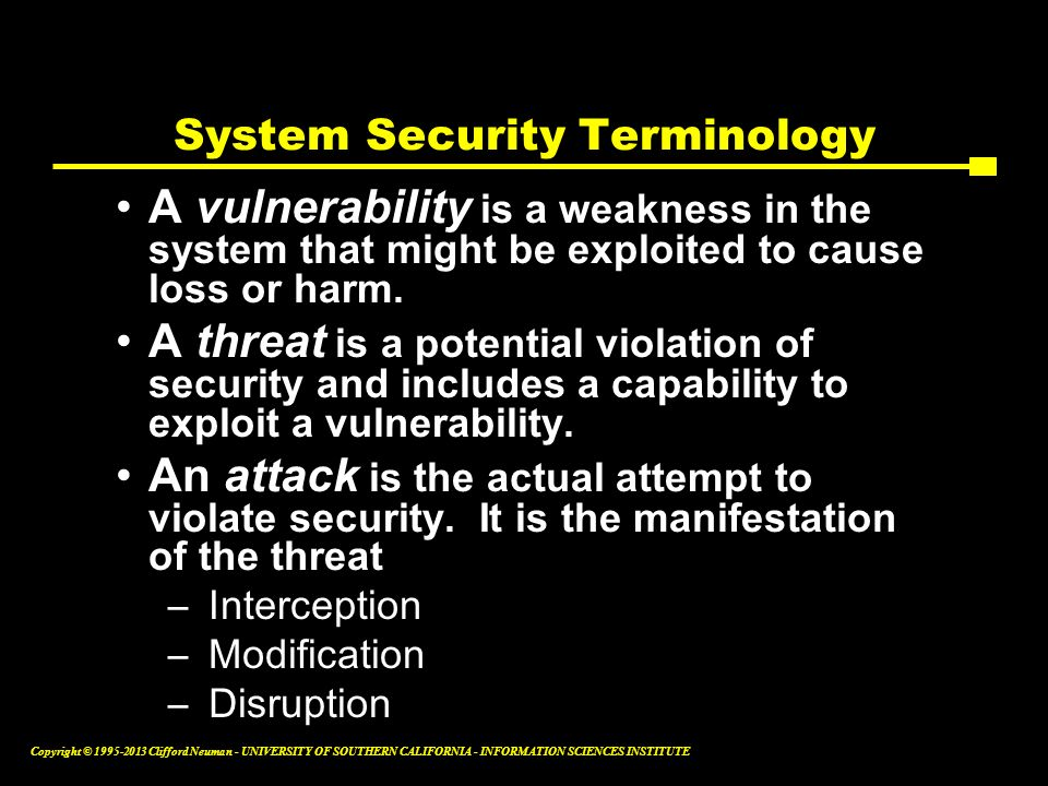 System Security Terminology