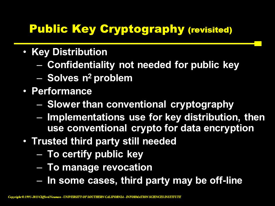 Public Key Cryptography (revisited)