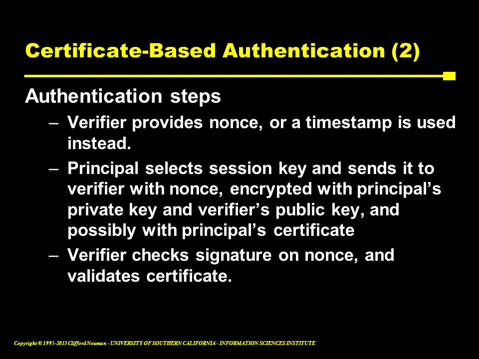 Certificate-Based Authentication (2)