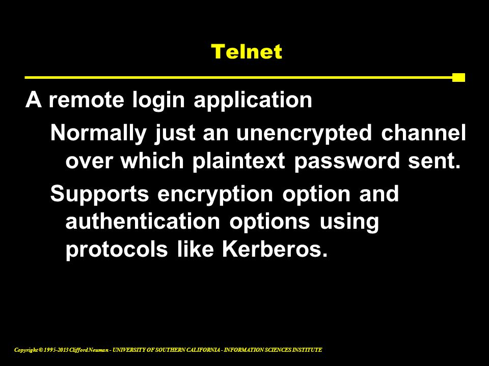 A remote login application