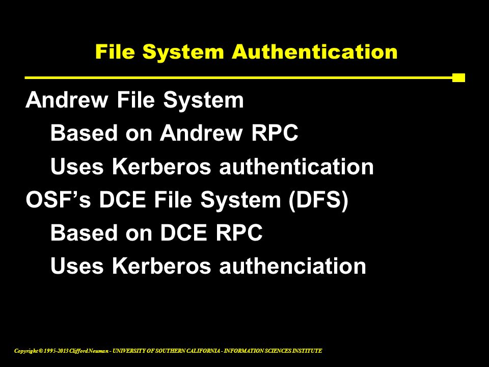 File System Authentication