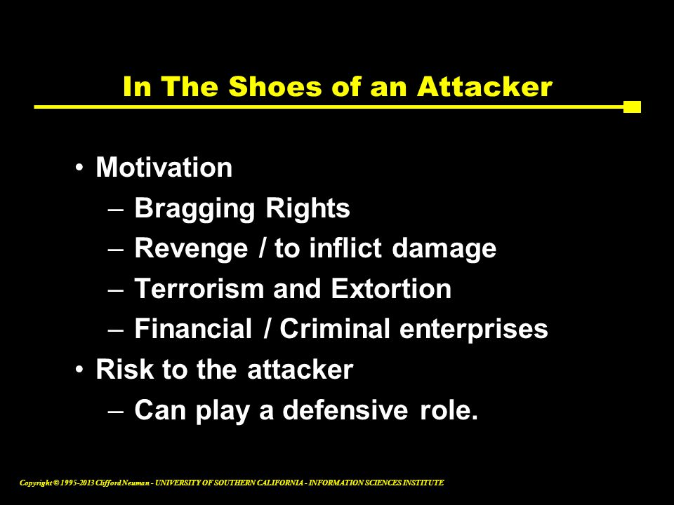 In The Shoes of an Attacker